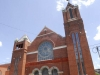 Exterior masonry cleaning of Pulaski Heights United Methodist Church