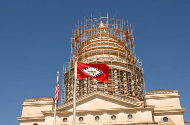 Commercial Roofing Repair on Arkansas State Capitol